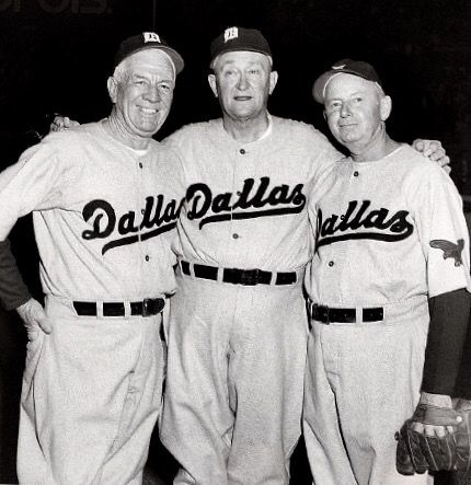 Rare photo of Tris Speaker, Ty Cobb and Duffy Lewis at the Burnett Field in Dallas, Texas, home of the Dallas Eagles.