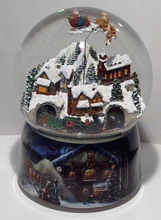 NEU Spieluhr XXL Schneekugel Glitzerkugel Weihnachtsmann Schlitten fahrender Zug • EUR 89,95 - PicClick DE