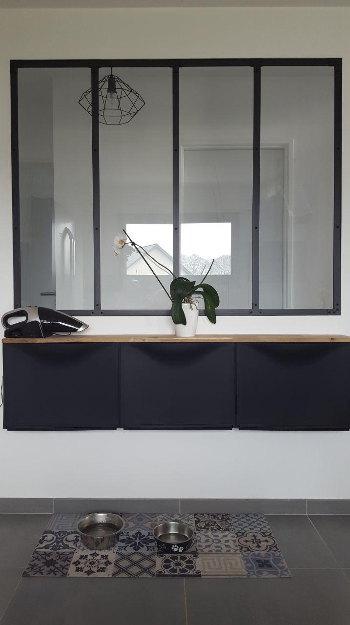 Meuble Ikea Sous La Verri Re Avec Planche En Ch Ne Maison