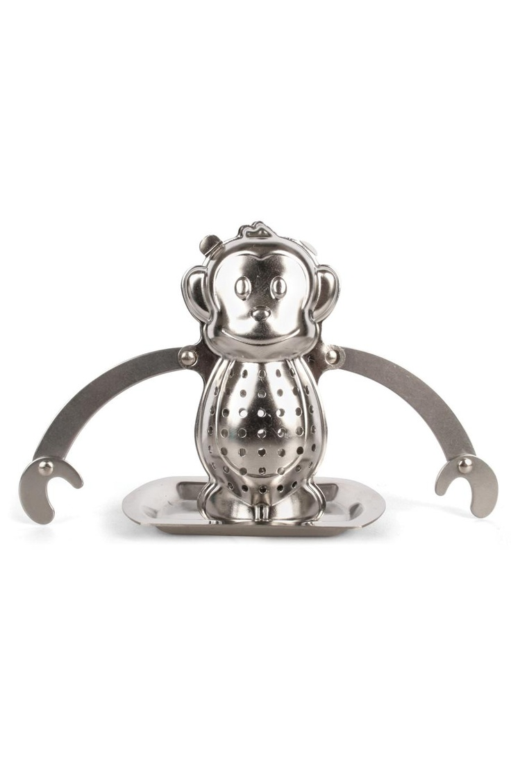 Monkey Tea Infuser - So cute: Teas Infused, Kitchens, Teas Time, Gifts Ideas, Monkey Teas, Kikkerland Monkey, Monkeytea, Drip Trays, Products
