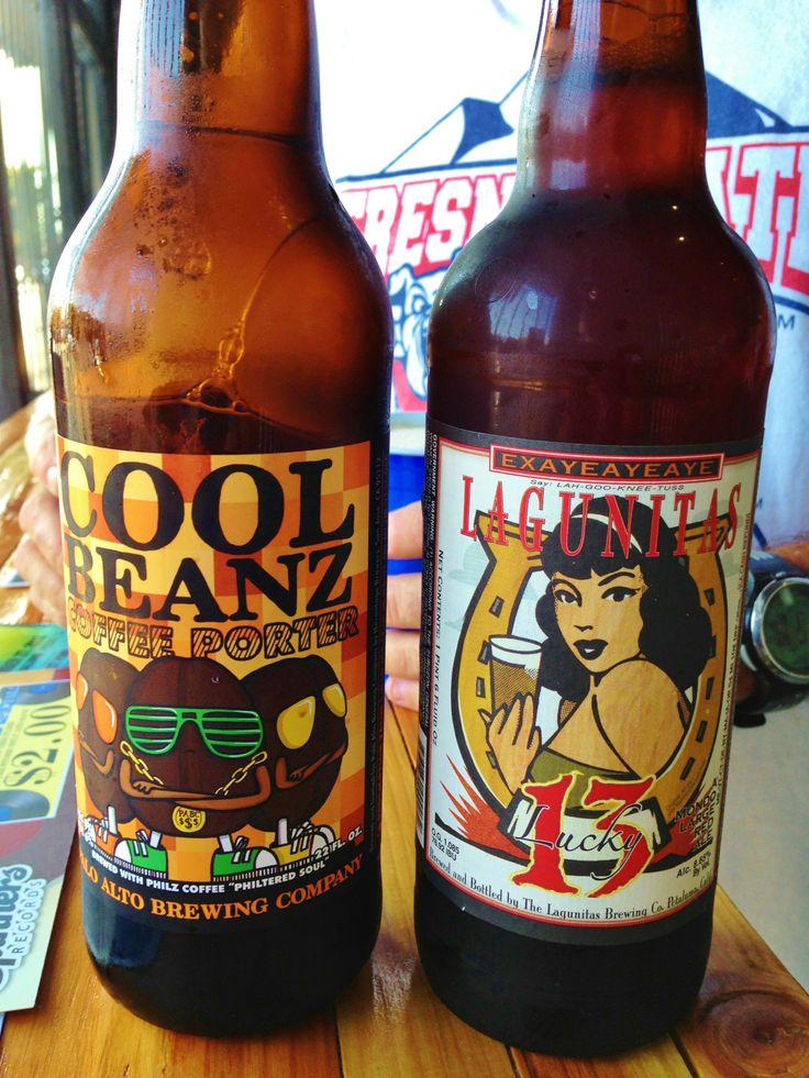 Cool Beans Coffee Porter & Lagunitas Lucky 13 . . . beer