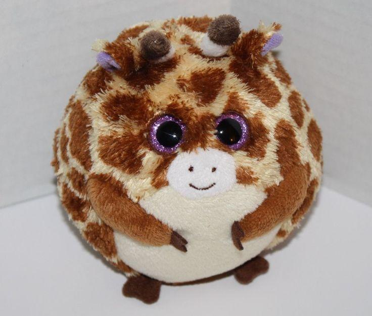ty beanie babies ballz tippy the giraffe round balls 5