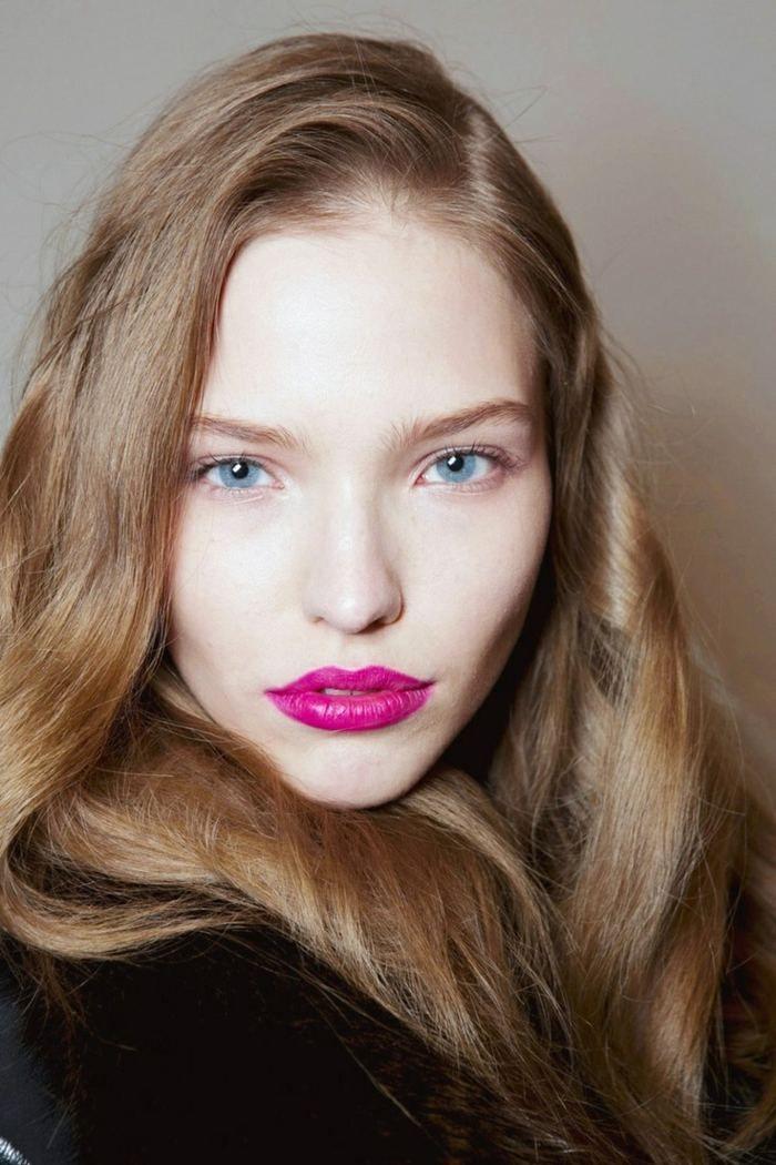 pinker lippenstift blaue augen betont pink lipstick pomadka do ust