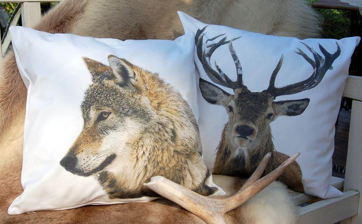 zwierzeta/ wilk, jeleń