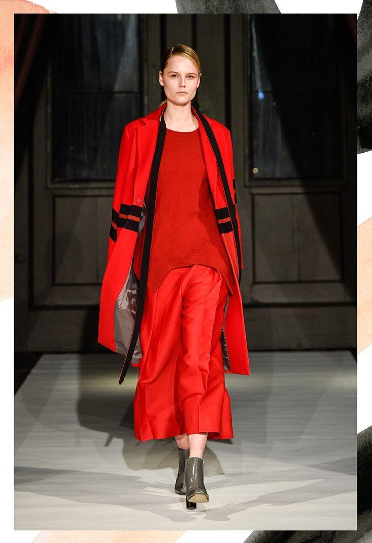 Monochromatic in red. By Fashion Hong Kong. More at: http://thewanderlette.com/2017/02/16/top-looks-copenhagen-fashion-week-aw17/  #fw #fashion #week #fashionweek #cphfw #copenhagen #scandinavia #scandistyle #nordic #style #collection #aw17 #season #brand #highend #catwalk #runway #inspiration #denmark #red #fashionhongkonkg #hongkong #minimaism #monochromatic #minimalistic #scandinavian #slowfashion