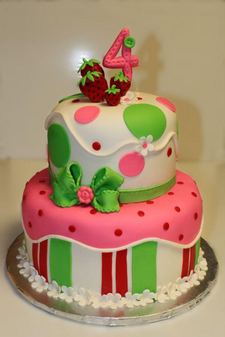 strawberry shortcake birthday cakes for kids | Layers of Love: Strawberry Shortcake Cake and Cookies