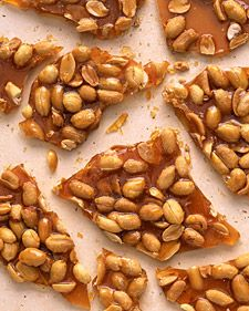 A picture of salty-sweet perfection, brittle is surprisingly easy to make. Serve it alongside coffee or tea for dessert, and save any leftovers for snacking. Peanuts make a classic brittle, but you can substitute cashews or almonds instead.