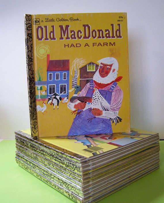 a Litte Golden Book Old MacDonald Had A Farm by PaperCapers, $5.00