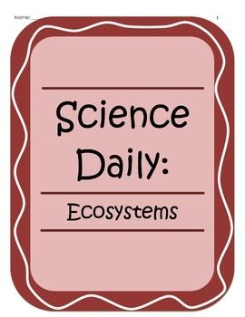 Science Daily - Ecosystems