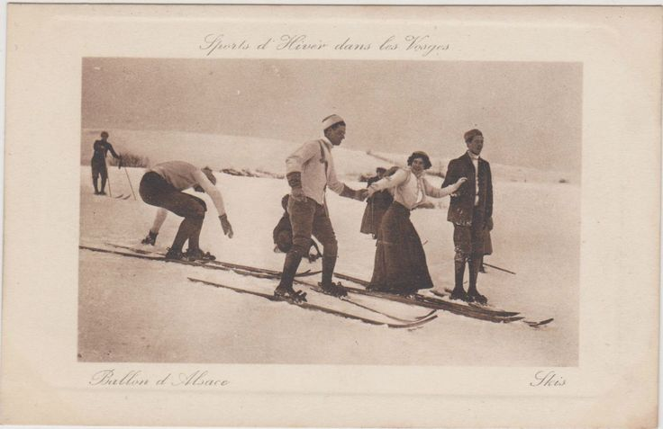 CARTE POSTALE SPORTS D'HIVER/SKI/VOSGES/BALLON D'ALSACE-IMP.ANDRES/GIROMAGNY in Collections, Cartes postales, Thèmes | eBay
