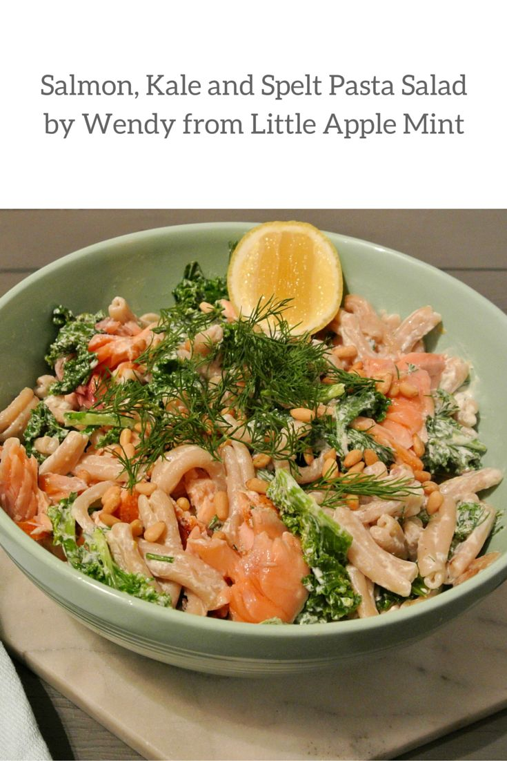 This quick and easy pasta recipe was created by Angelo's Feature Foodie Wendy from Little Apple Mint. Wendy's Salmon, kale and Spelt pasta salad is healthy, nutritious and bursting with flavour making it a perfect mid week meal.