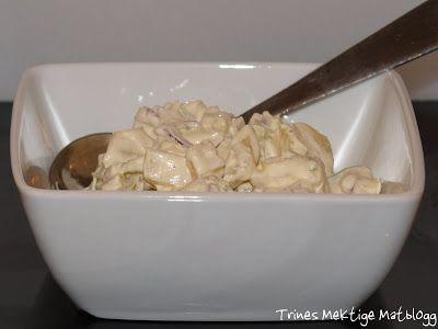 » Potetsalat, gravet laks og sennepssaus