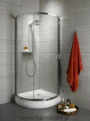 Premium Plus B Radaway kabina półokrągła z drzwiami jednoczęściowymi 900x900 1900 chrom fabric - 30473-01-06N http://www.hansloren.pl/kabiny-prysznicowe/Kabiny-polokragle/RADAWAY
