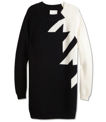 3.1 Phillip Lim Faded Houndstooth Sweaterdress - ShopBAZAAR    #GetGraphic