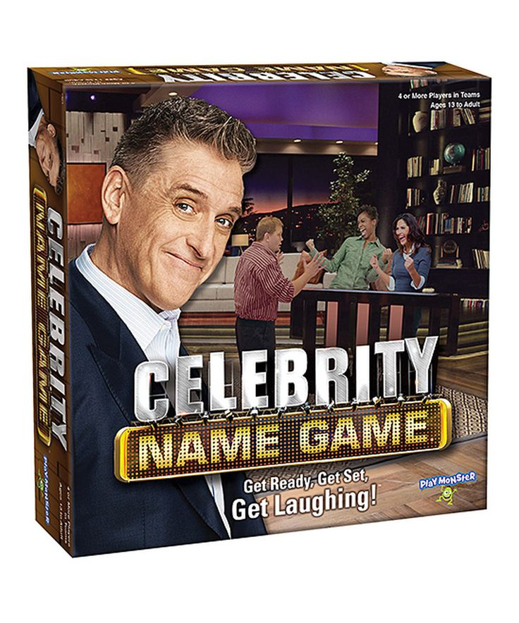 Take a look at this Celebrity Name Game® today!