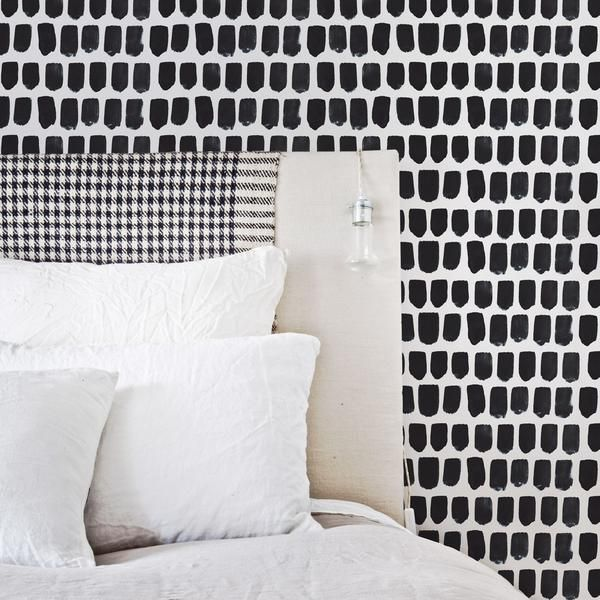 Removable Wallpaper Perfect For Rentals Livettes Removable Wallpaper Brush Strokes Black And White Wallpaper Brush stroke removable wallpaper