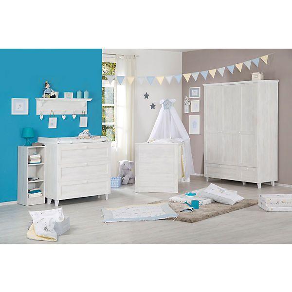Komplett Kinderzimmer SARAH, 3-tlg (Kinderbett, Wickelkommode und 3