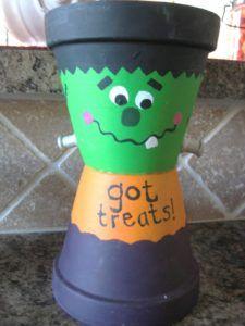 Frankenstein Got Treats Pot