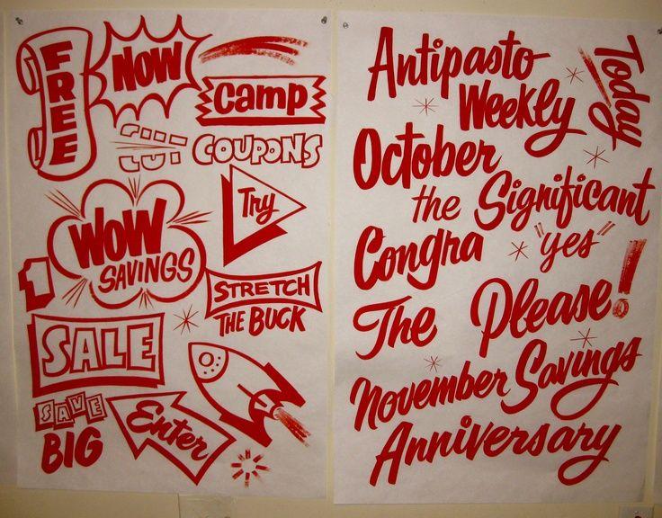 Hand Lettered Sign Painting Lettering Hand Lettering Lettering Design