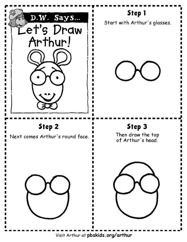 Arthur . Games . Let's Draw Arthur | PBS Kids