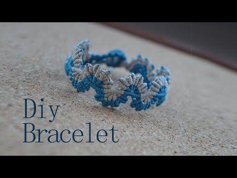 Macrame tutorial: The Luxurious double leaf bracelet - Simple and elegant macrame project - YouTube