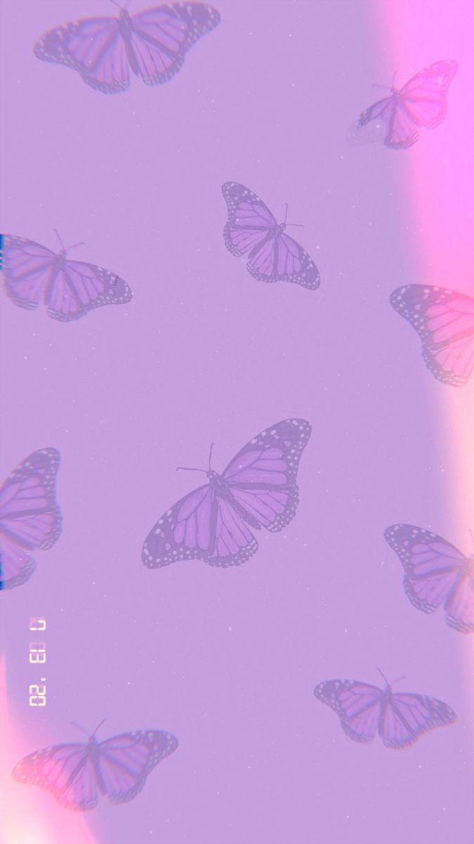 Purple Butterfly Lomo Butterfly Wallpaper Iphone Purple Butterfly Wallpaper Pretty Wallpaper Iphone