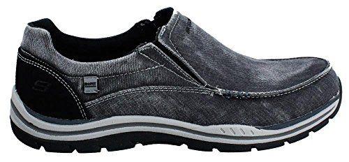 Skechers USA Men's Expected Avillo Slip-On Loafer, Black, 10 W US - http://all-shoes-online.com/skechers-3/10-2e-us-skechers-usa-mens-expected-avillo-relaxed