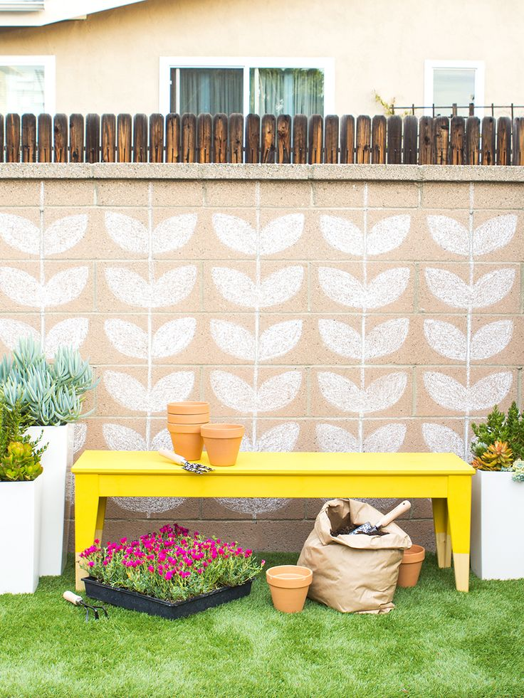 Transform a plain IKEA bench into a stylish multi-purpose outdoor piece with DecoArt Americana Outdoor paint. Click through to see the how-to for this Ikea hack! by Sarah Hearts