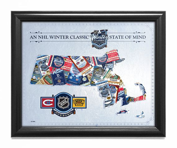 2016 NHL Winter Classic State of Mind Framed Print (Massachusetts) - Canadiens vs Bruins