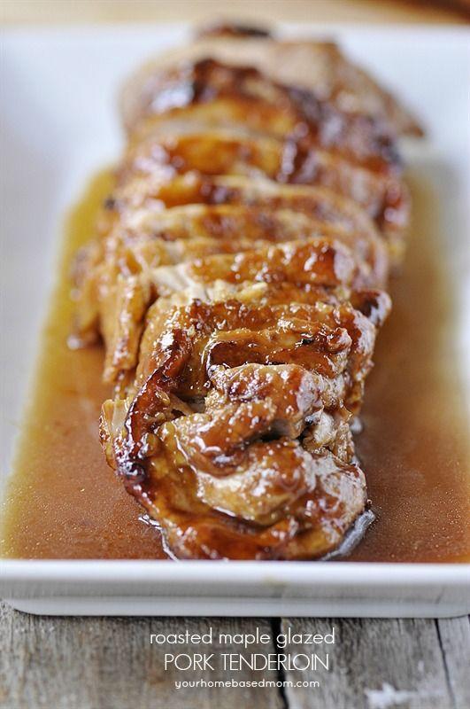 roasted maple glazed pork tenderloin
