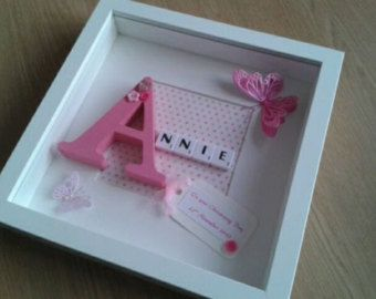Scrabble wall Art Baby Boy/Girl by ScrabbleArtbyLou on Etsy
