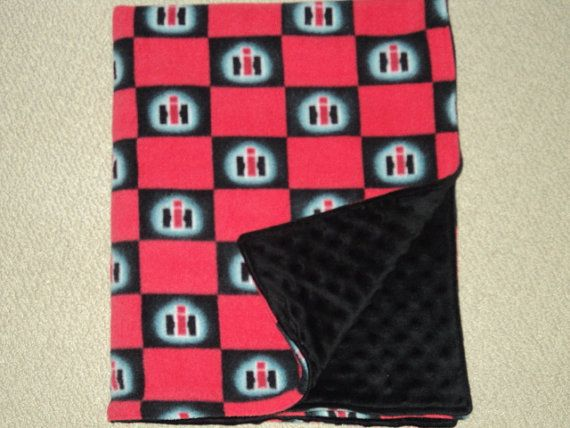 Minky Baby Blanket International Harvester Minky by AuntBsBonnets, $30.00