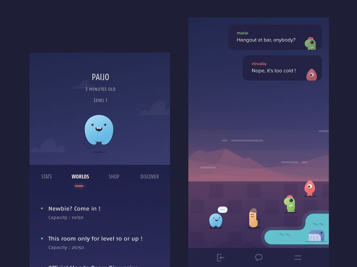 Chat Room Conversation Page