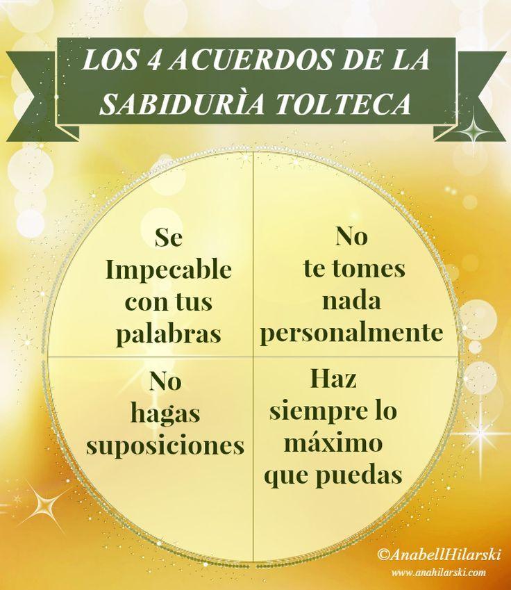 Los cuatro acuerdos de la sabiduría Tolteca. #Motivacion #Reflexion: