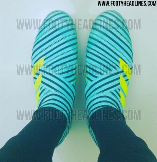 Laceless Adidas Nemeziz 17+ 360Agility Ocean Storm 2017-2018 Boots Leaked - Footy Headlines