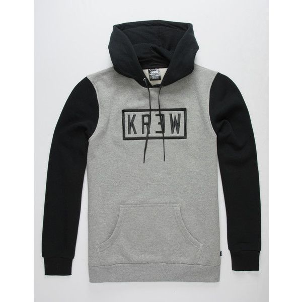 Kr3w Box Lock Hoodie ($60) ❤ liked on Polyvore featuring men's fashion, men's clothing, men's hoodies, mens fleece lined hoodies, mens cotton hoodies, mens hoodies and mens sweatshirts and hoodies