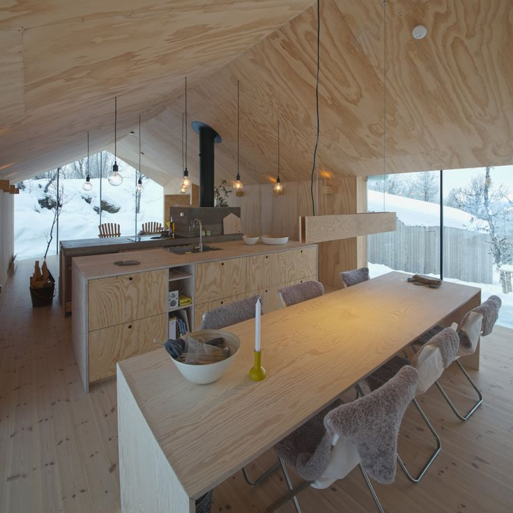 reiulf ramstad v-lodge timber cabin norway designboom