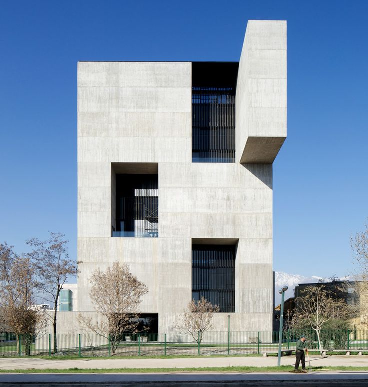 elemental casts concrete innovation center UC in chile around open core