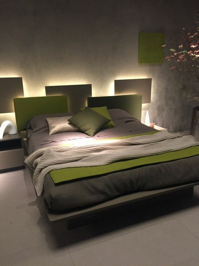 Led Strip Lighting Behind The Bed Housing Ideas Bedroom Accent Wall Design Small Bedroom Small Bedroom Ideas For Women Woman Bedroom