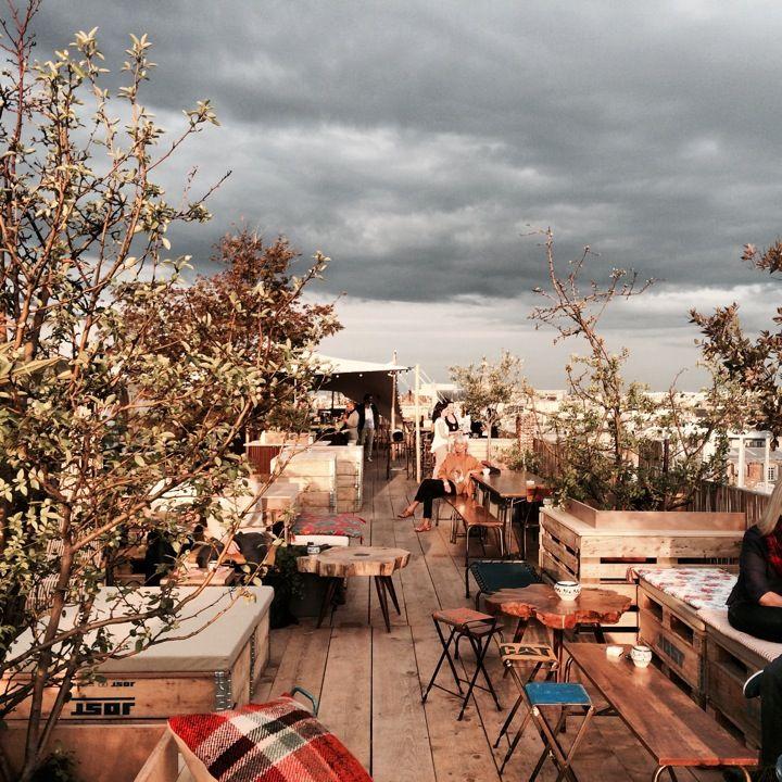 Le Perchoir du Marais in Paris. Theculturetrip.com offers tips on the best cafes to go to in Paris.