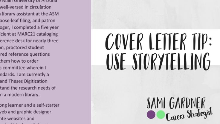 1 Cover Letter Writing Tip - Sami Gardner Career Tip Pinterest - library assistant cover letter