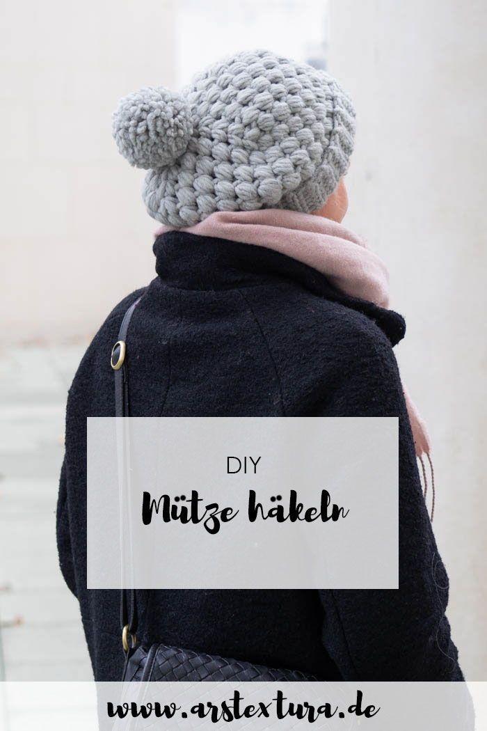 Kuschelige Mütze Häkeln Häkelideen Pinterest