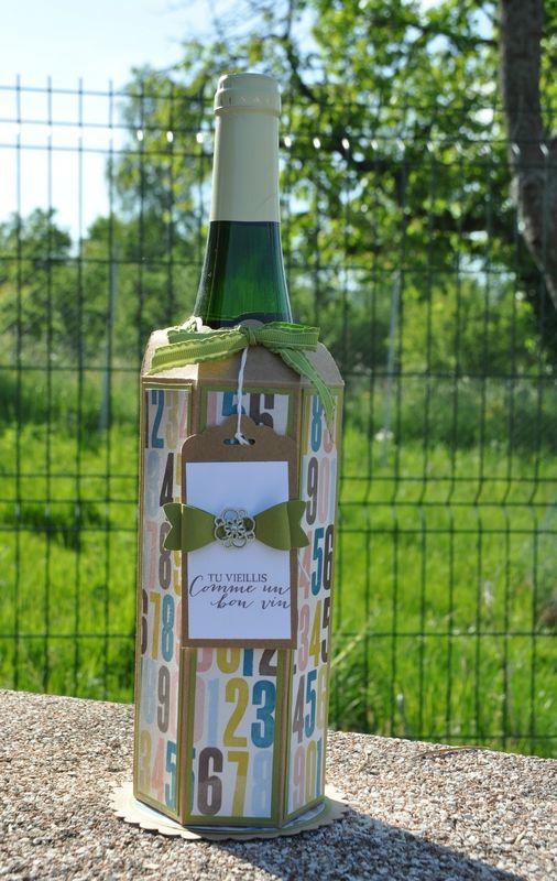 emballage bouteille de vin noeud 2015 1 scrap pinterest bouteille emballage et noeud. Black Bedroom Furniture Sets. Home Design Ideas