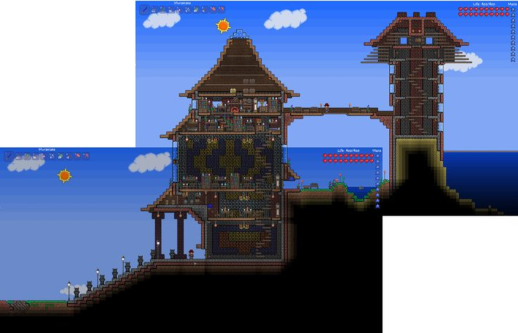 Epic terraria house terraria board pinterest of for Best house designs terraria