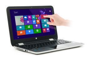"£389 = HP Pavilion x360 13 Laptop - Silver  Intel Core i5-5200U 2.2 GHz 8GB RAM + 1TB HDD 13.3"" Touchscreen WIFI + Webcam + Bluetooth Windows 8.1 + Free upgrade to Windows 10"