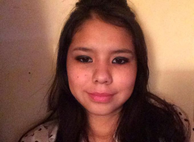 Tina Fontaine is seen in an undated Facebook photo. The 15-year-old was found dead in the Red River Aug. 17.
