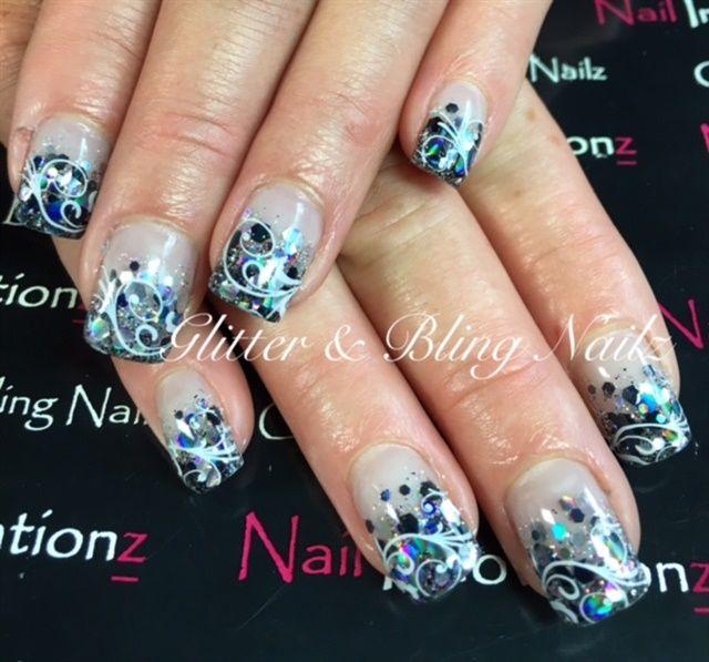 Images of nail art with bling : Bling nail art nails magazines