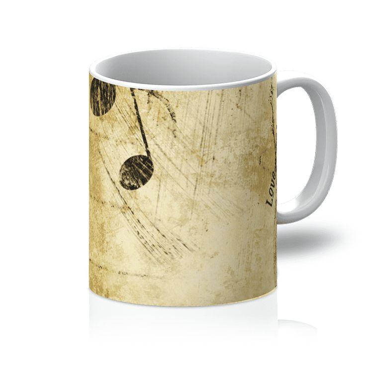 Love and Design Music and Piano Brand Mug