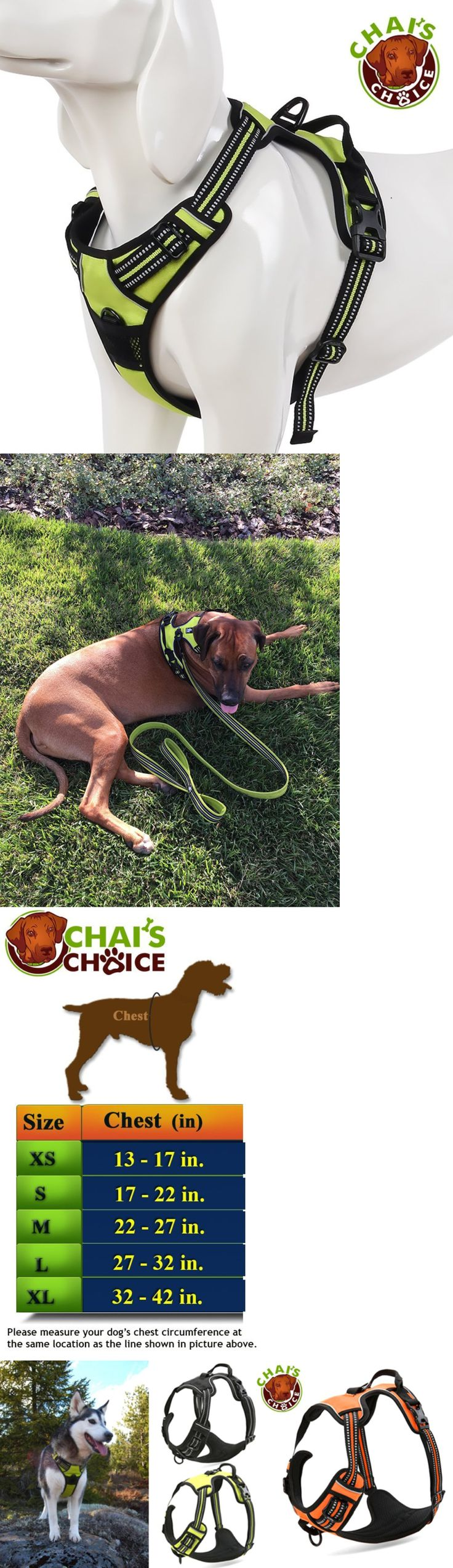 Harnesses 66783: Chai'S Choice Best Front Range Dog Harness. 3M Reflective Outdoor Adventu BUY IT NOW ONLY: $32.2