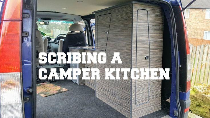 Scribing Mercedes Vito Camper Van Kitchen DIY | The Carpenter's Daughter